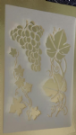Grape & vine design stencil sheets for walls / card making Mylar 350 mic plastic